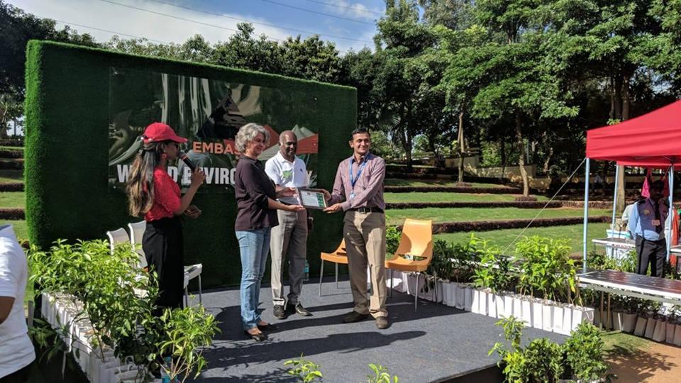 Carpool awards at Manyata Tech Park