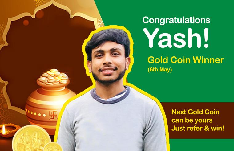 Akshaya Tritiya Gold Coin winner - 07/05/2019