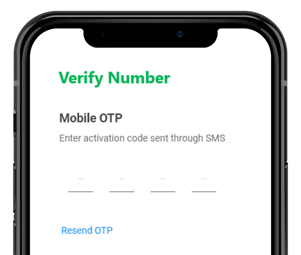 Mobile Number Verification through OTP