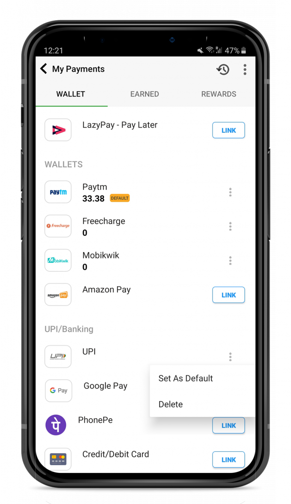 How to unlink UPI wallet?