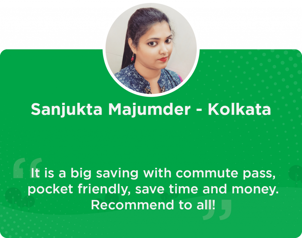 Sanjukta Quick Ride Kolkata User