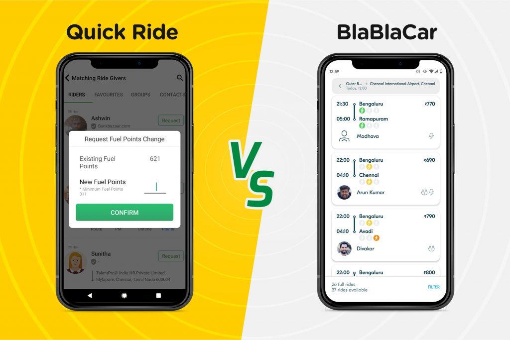 quick ride vs blablacar