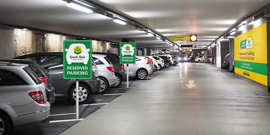 quick ride carpooling parking